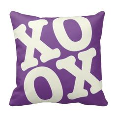 xoxo pillow valentines day cushion purple: day orchid decor