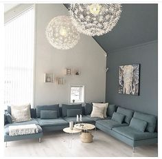 Finland, Drawing Room, Scandinavian Style, Decoration, Chandelier, Sweet Home, Couch, Ceiling Lights, Living Room