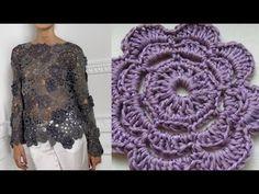 Ажурная кофта крючком  Ч 1. Openwork crochet sweater