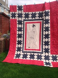 Geisher girl quilt all designed and made by myself hand quilted