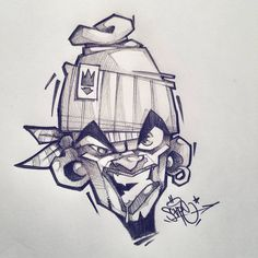 Graffiti Sketch, Graffiti Tattoo, Graffiti Designs, Graffiti Drawing, Cool Art Drawings, Street Art Graffiti, Graffiti Cartoons, Graffiti Characters, Arte Hip Hop