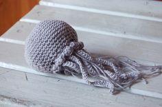 Jellyfish amigurumi crochet baby mobile nursery baby shower gift housewarming gift