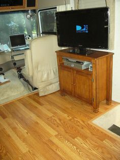 I want to put laminate wood floors in the camper. Easier to clean then carpet, and looks better too!