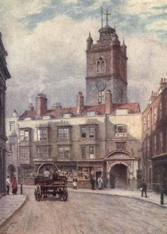 Norman, Philip (1842-1931) - London Vanished & Vanishing 1905 - St. Giles', Cripplegate & Fore St, London. #vintage, #london