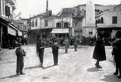 οδός Μουσούρων πριν το χτίσιμο της Δημοτικής Αγοράς. Greece, Street View, Journey, History, Country, Beautiful, Vintage, Memories, Crete