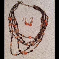 Necklace and earrings Necklace and earrings Jewelry Necklaces