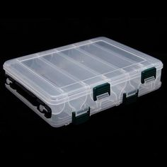 New 10 Compartments Plastic Fishing Lure* Tackle Box - Double Sided High Strength Transparent box - with Drain Hole Fishing Tackle Box, Fishing Lures, Lure Box, Transparent Box, Strength, Discount Handbags, Discount Beauty, Coupon Spreadsheet, Cyber Monday
