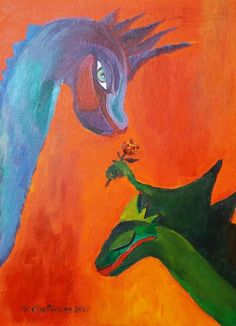 Buy Dragon blushed, Acrylic painting by Geeta Biswas on Artfinder. Discover thousands of other original paintings, prints, sculptures and photography from independent artists.