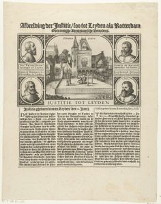 Onthoofding van arminianen bij het Gravensteen te Leiden, 1623, Claes Jansz. Visscher (II), 1623