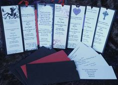 """Wedding """"favors"""" as bookmarks"""