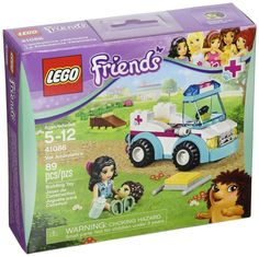 Compare prices on LEGO Friends Set Vet Ambulance from top online retailers. Save money on your favorite LEGO figures, accessories, and sets. Ambulance Lego, Legos, Van Lego, Lego Friends Sets, Hedgehog Pet, Lego Pictures, Pet Vet, Vet Clinics, Lego Birthday