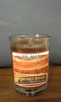 A bacon scented candle.