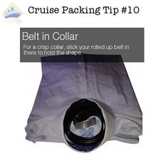 cruise packing tip 10 - belt in collar