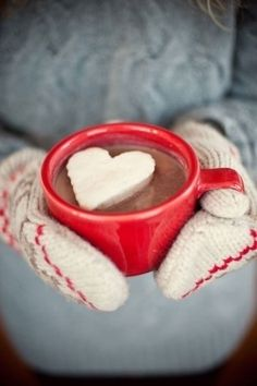 Freeze whipped cream on a cookie sheet, use cookie cutter to cut out hearts and serve with hot cocoa...