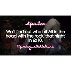 "We'll find out who hit Ali 'that night' with the rock in the 6x10 summer finale ""Game Over Charles""! #pll #prettylittleliars #summerofanswers #WildenisA #WildenisCharles #gameovercharles #lastdance #whoisCharles #whoisA #alisondilaurentis #hannamarin #emilyfields #spencerhastings #ariamontgomery #pllspoilers #plltheories #prettylittleliarsspoilers #prettylittleliarstheories #pll610 #pll6x10 #spoby #ezria #haleb #emison #follow #lucyhale #shaymitchell #ashleybenson #troianbellisario…"