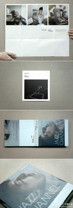 package look of jazz channel by yoga lin ( Painting work by artist 許尹齡, Photo shot by ) Cd Design, Leaflet Design, Graphic Design Layouts, Book Design Layout, Print Layout, Book Cover Design, Print Design, Typography Prints, Typography Design