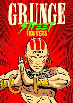 """Billy Corgan (The Smashing Pumpkins) as Dhalsim 