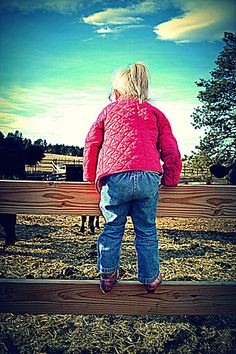 A little girl and her horses with her pink cowgirl boots on. #equestrian #horse #pink