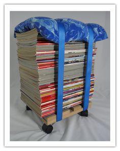 DIY Zeitschriftenhocker