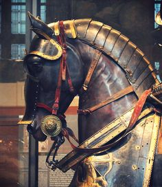 The Reluctant Paladin Horse Armor, Horse Gear, Horse Tack, Armadura Medieval, Medieval Horse, Medieval Armor, Tattoo Caballo, Equestrian Statue, Horse Costumes