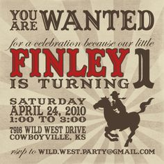 I think this is a sign Fin is suppose to have a cowgirl party!