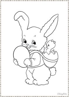 Easy Easter Bunny Coloring Pages for Toddlers Easter Bunny Colouring, Easter Egg Coloring Pages, Coloring Pages For Kids, Star Wars History, Easter Activities For Kids, Line Artwork, Printable Coloring Sheets, Felt Animals, Toddlers