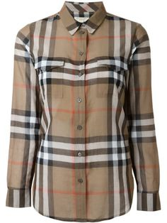 Burberry House Check Cotton Shirt In Beige Camisa Burberry, Burberry Shirt, Burberry Women, Brown Long Sleeve Shirt, Long Sleeve Shirts, Stylish Shirts, Check Shirt, Colorful Shirts, Cotton Shirts