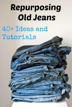 Über 40 Ideen für alte Jeans - nähen #FashionDesigners