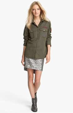 Zadig & Voltaire 'Tachly' Military Shirt available in Via C