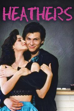 heathers poster artwork  winona ryder and christian slater.