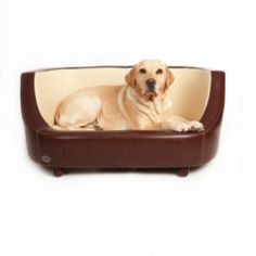 The Oxford I is a gloss, leather effect material beautifully made to blend into any home, now on Sale! #dog beds
