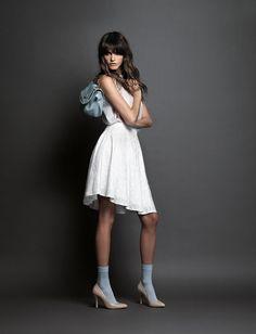 Fornarina Bags Collection - SS14 with Jeisa Chiminazzo  #myfornarina #accessories #bag #white #adv #fashion #fornarina