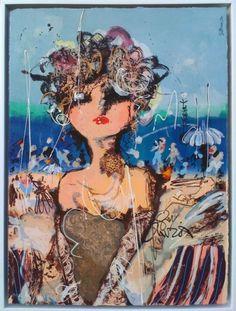 La plage Handgeschilderd in x 73 cm. Fantasy, Guys, Comics, Gallery, Drawings, Artist, Anime, Photographs, Fairy