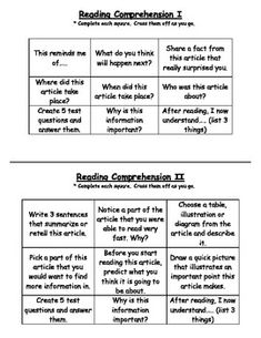 tiered levels of reading comprehension - perfect for every level of kiddo