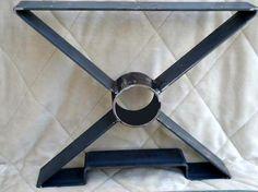 15 OR 18 X shaped Steel table legs metal table by MooseheadMetals