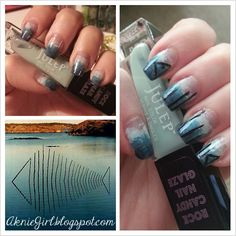Very Enchanting: Nails of the day- Inspired by Water!
