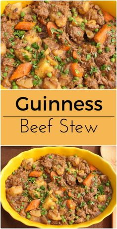Hearty Guinness Beef Stew. Chili Recipes, Slow Cooker Recipes, Soup Recipes, Salad Recipes, Cooking Recipes, Guinness Beef Stew, Pub Food, Vegetable Stew, Hot Soup