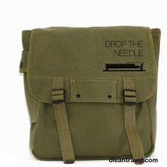 Drop the Needle Backpack, Canvas Backpack, Rucksack, Travel Backpack, Festival Bag, Music (Green & Black) Men's Backpack, Women's Backpack - http://oleantravel.com/drop-the-needle-backpack-canvas-backpack-rucksack-travel-backpack-festival-bag-music-green-s-backpack-womens-backpack