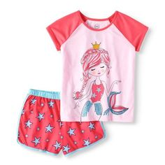 Shop for Girls Pajamas & Robes in Girls Items. Buy products such as Wonder Nation Exclusive Girls & Plus Spring Summer Graphic Pajama Short Set and Lightweight Nightgown at Walmart and save. Girls Sleepwear, Girls Pajamas, Long Sleeve Pyjamas, Sleep Set, Pajama Shorts, Walmart Shopping, Night Gown, Little Girls, Short Set