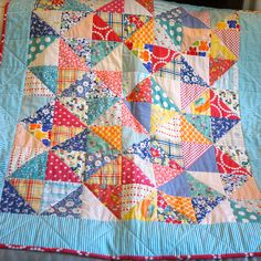 Baby Quilt By Roxy Creations she likes the colors and combos. Otherwise not usually  crazy about pattern
