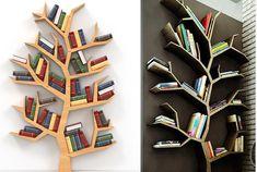 Idei pentru a crea o mini biblioteca arbore in biroul tau! - http://www.stilulmeu.com/the-best-tree-branches-shaped-libraries-to-decorate-your-home/