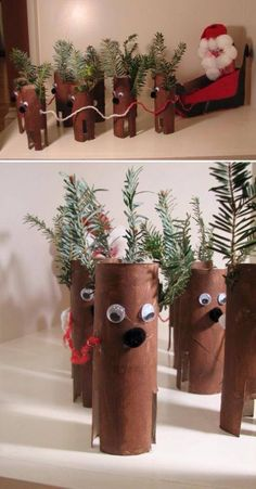 reindeer from tissue roll