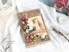МК, винтажная почтовая карточка, рождественская открытка, винтажные дети