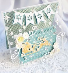 OCTOBER 2015 New Release Showcase Day 3! From our Design Team! Card by Arlene Cuevas featuring these Dies -   Snowflake Flag Banner, Postage Stamps (Set of 4), Santa Sleigh, Zig Zag Trim Banner, Reindeer 1, Reindeer 2 , Snowglobe (Set of 7) :-)  Shop now for all of our NEW stamps and Dies here - http://shop.lalalandcrafts.com/NEW_c16.htm More Design Team inspiration here - http://lalalandcrafts.blogspot.ie/2015/10/inspiration-wednesday-new-release.html
