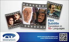 #Film #Subtitle #Translation in 70+ #Languages by Communication Legal Translation  www.communicationdubai.com/film-translation.php