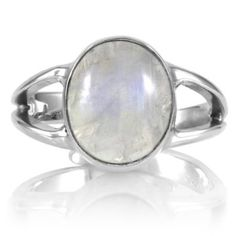 Amazon.com: Belinda's Moonstone Ring - Sterling Silver: Jewelry