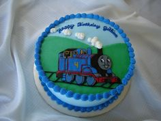 Thomas the Train Cake - frozen buttercream transfer