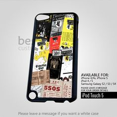 5SOS Collage Poster For iPod 5 Case