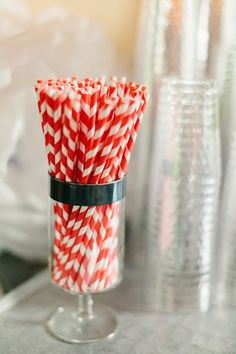 Red striped straws. July Wedding, Wedding Weekend, 4th Of July Events, Bridal Shower, Baby Shower, Striped Wedding, Day Of The Dead Skull, Straws, Rehearsal Dinners