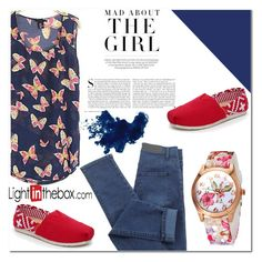 """BlueandRed"" by nerma10 ❤ liked on Polyvore featuring moda, TOMS e Kershaw"